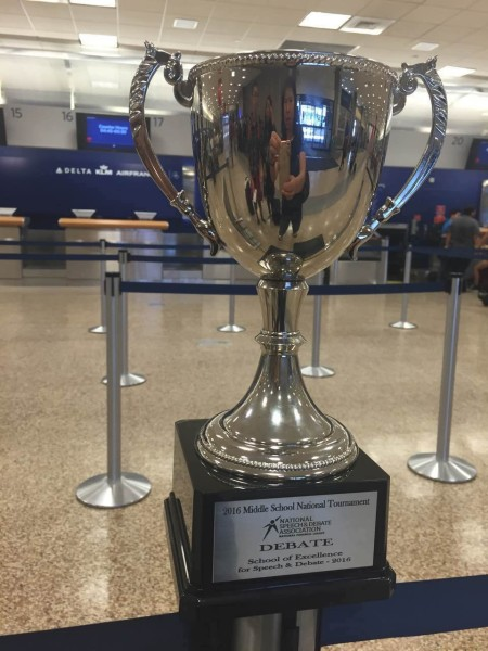 School of Excellence in Debate Trophy 2016