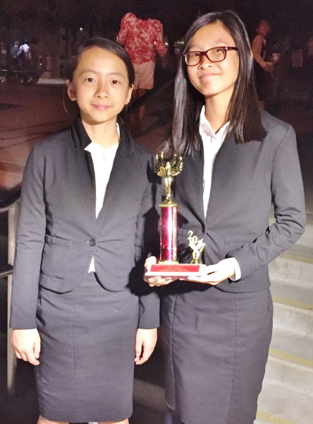 Christina and Cassie- Cassie won champion in Prose and Poetry