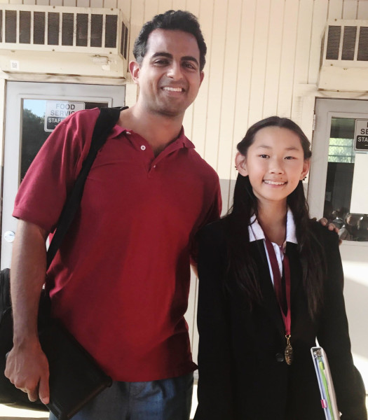 Selina Ho won 12th place in Congress with coach Mr. Ro