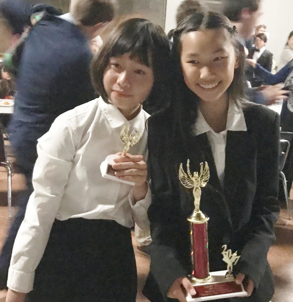 Sharon Liu won 4th place in Imrpomptu, Selina Ho won Championship in Storytelling